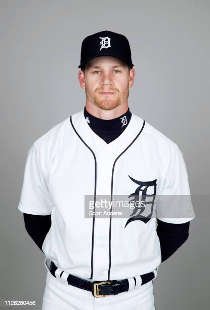 Gordon Beckham of the Detroit Tigers poses during Photo Day on Tuesday February 19 2019 at Publix Field at Joker Marchant Stadium in Lakeland Florida