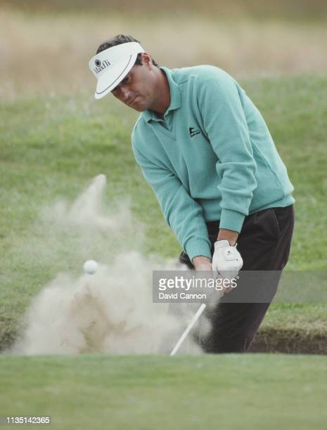 Gordon Brand Senior with an iron shot out of a bunker during the 112th Open Championship on 14 July 1983 at the Royal Birkdale Golf Club in Southport...