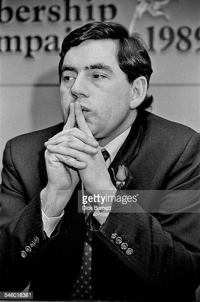 Gordon Brown at the launch of the Labour Party Membership Campaign, London, 1989.