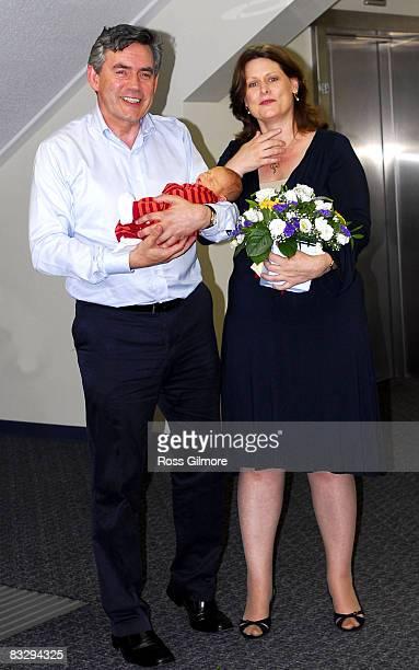 Gordon Brown James Brown and Sarah Brown