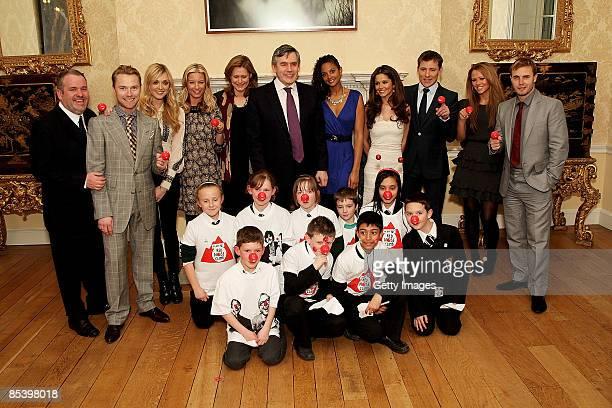 Gordon Brown Sarah Brown Fearne Cotton Cheryl Cole Ronan Keating Chris Moyles Gary Barlow Kimberley Walsh Ben Shepherd and Alysha Dixon attend a...