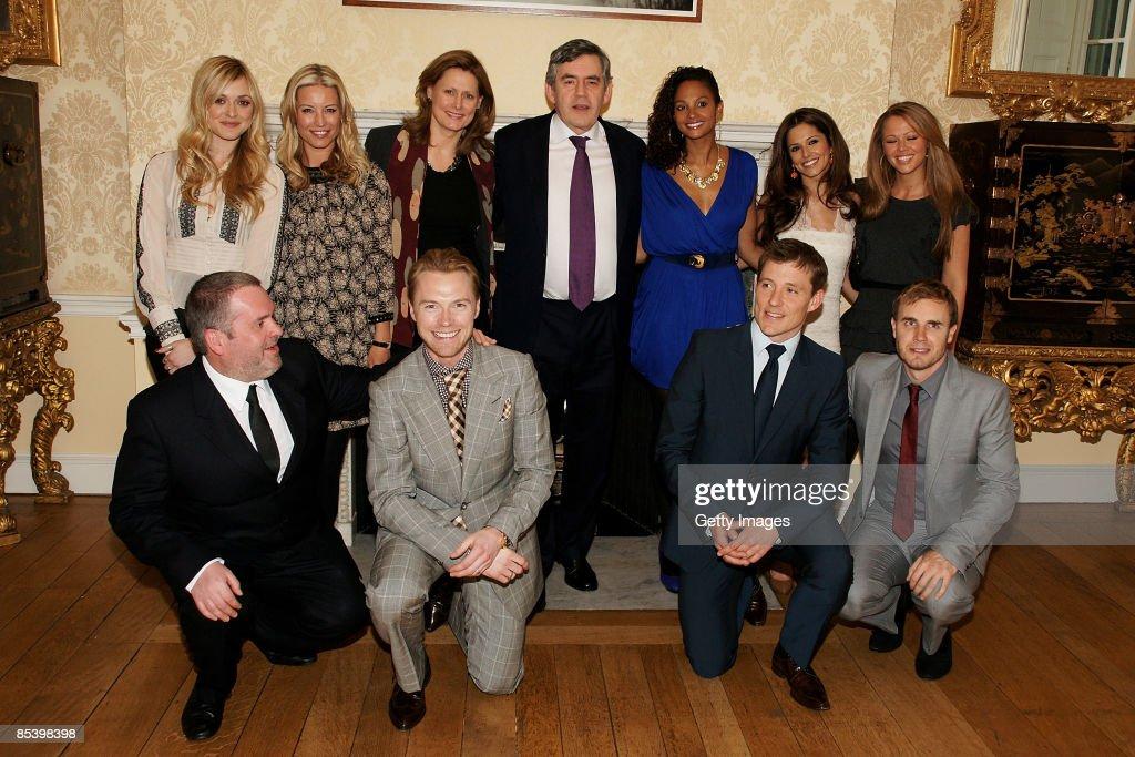 Celebrity Mountain Climbers Meet Gordon Brown At Downing Street : News Photo