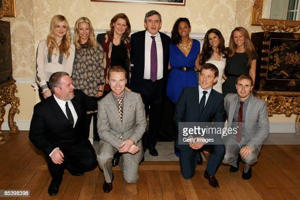 Gordon Brown Sarah Brown Fearne Cotton Cheryl Cole Ronan Keating Chris Moyles Gary Barlow Kimberley Walsh Ben Shepherd and Alysha Dixon attend a...