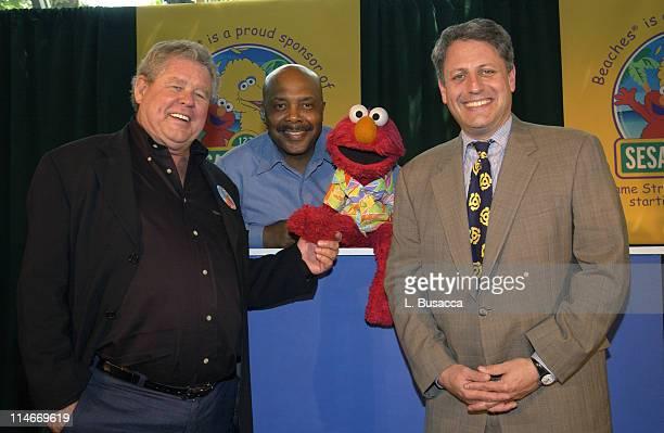 "Gordon ""Butch"" Stewart of Beaches Resorts, Gordon of ""Sesame Street"", Elmo and Gary Knell of ""Sesame Street"""