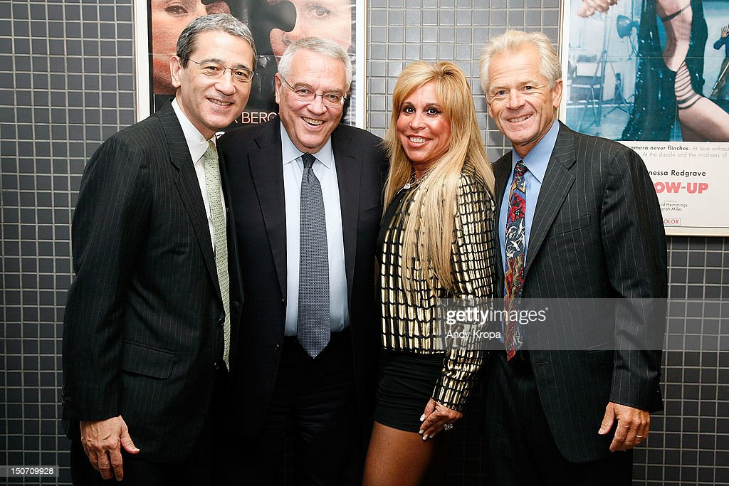Gordon Chang, Leo Hindery, Lynn Tilton and director Peter Navarro attend the 'Death By China' screening at the Quad Cinema on August 24, 2012 in New York City.
