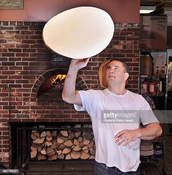 Gordon Chibroski Staff Photographer Friday May 20 2011 Dining Guide Art from Siano'a Pizzeria at corner of Stevens and Brentwood Chris Grant displays...