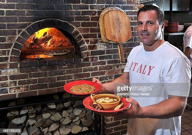Gordon Chibroski Staff Photographer Friday May 20 2011 Dining Guide Art from Siano'a Pizzeria at corner of Stevens and Brentwood Owner Joe Pompeo...