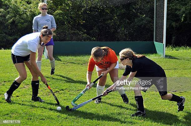 Gordon Chibroski/ Staff Photographer Tuesday September 14 2010 Georges Valley High in Thomaston and Rockland High have combined their field hockey...