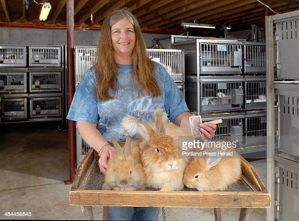 Gordon Chibroski/Staff Photographer On Friday August 24 2007 Beth Acker owns one of the largest Angora rabbit farms in the state She is located in...