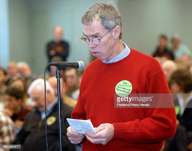 Gordon Chibroski/Staff Photographer On Saturday December 15 2007 LURC listened to citizens voice their opinions about Plum Creek Development in...