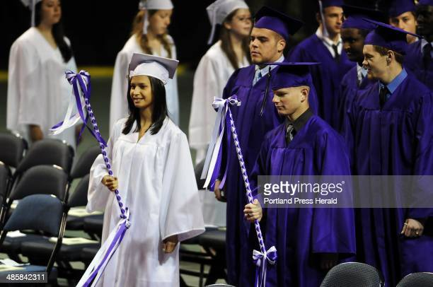Wednesday June 3 2009 Class Marshall lead the Deering High School graduation procession at the Cumberland County Civic Center