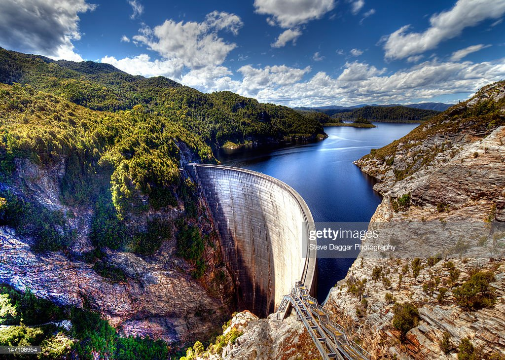 Gordon dam in Tasmania : ストックフォト