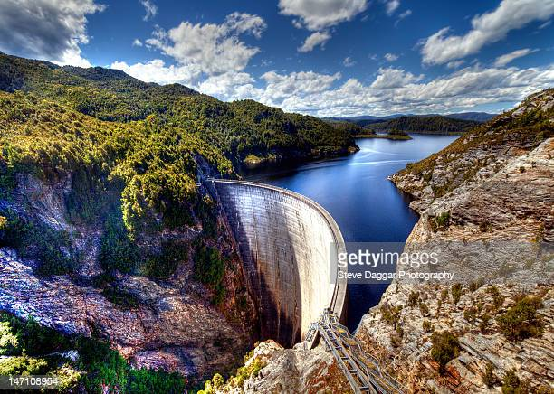 gordon dam in tasmania - hobart tasmania stock pictures, royalty-free photos & images