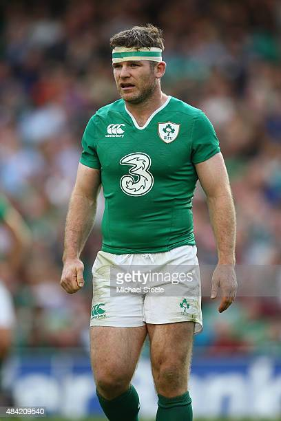 Gordon D'Arcy of Ireland during the International match between Ireland and Scotland at the Aviva Stadium on August 15 2015 in Dublin Ireland