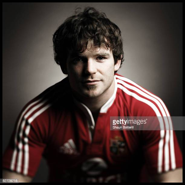 Gordon D'Arcy pictured during the British and Irish Lions Squad Photocall for the 2005 Tour to New Zealand on April 18 2005 in Cardiff Wales