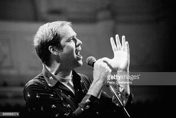 Gordon Downie guitar and vocals performs with the Tragically Hip at the Paradiso on November 29th 1994 in Amsterdam the Netherlands