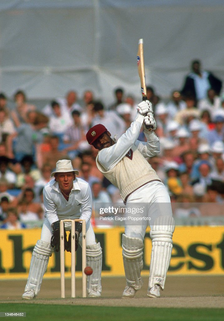 England v West Indies, 4th  Test, Old Trafford, July 1984 : News Photo