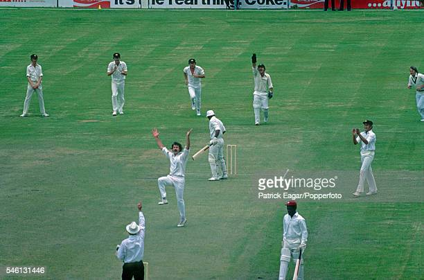 Gordon Greenidge of West Indies is out lbw to Dennis Lillee of Australia for 0 during the 1st Test match between Australia and West Indies at The...