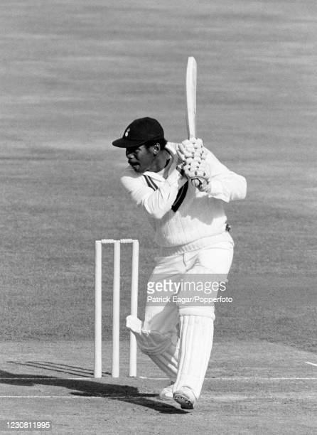 Gordon Greenidge, wearing his West Indies sweater and Hampshire cap, batting during the Courage Challenge Cup International Batsman of the Year...