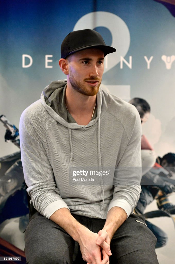 Gordon Hayward brings a motivational Q&A and Destiny 2 games to teen members of Boys & Girls Clubs of Boston on December 13, 2017 in Boston, Massachusetts.