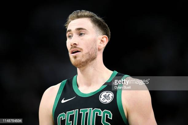 Gordon Hayward of the Boston Celtics looks on in the third quarter against the Milwaukee Bucks during Game One of Round Two of the 2019 NBA Playoffs...