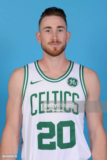 Gordon Hayward of the Boston Celtics poses for a head shot during media day at TD Garden in Boston Massachusetts on September 25 2017 NOTE TO USER...