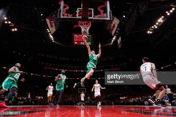 Gordon Hayward of the Boston Celtics shoots the ball against the Toronto Raptors on February 26 2019 at the Scotiabank Arena in Toronto Ontario...