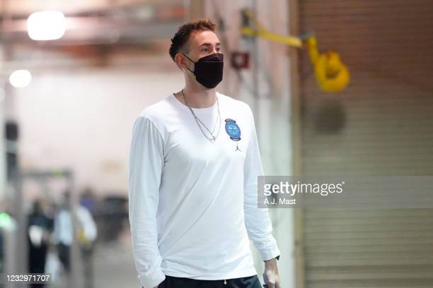 Gordon Hayward of the Charlotte Hornets arrives to the arena prior to the game against the Indiana Pacers during the 2021 NBA Play-In Tournament on...