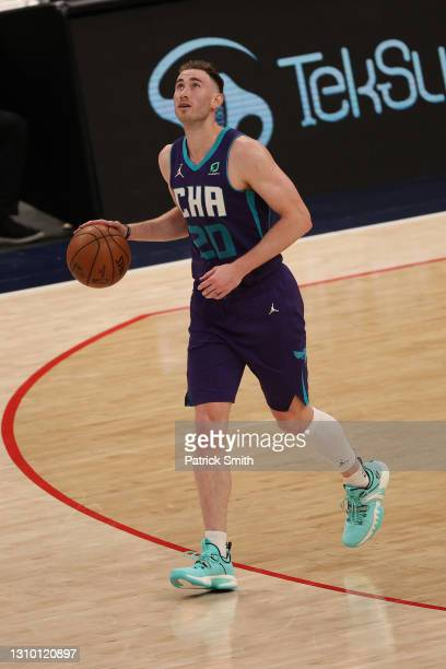Gordon Hayward of the Charlotte Hornets in action against the Washington Wizards at Capital One Arena on March 30, 2021 in Washington, DC. NOTE TO...