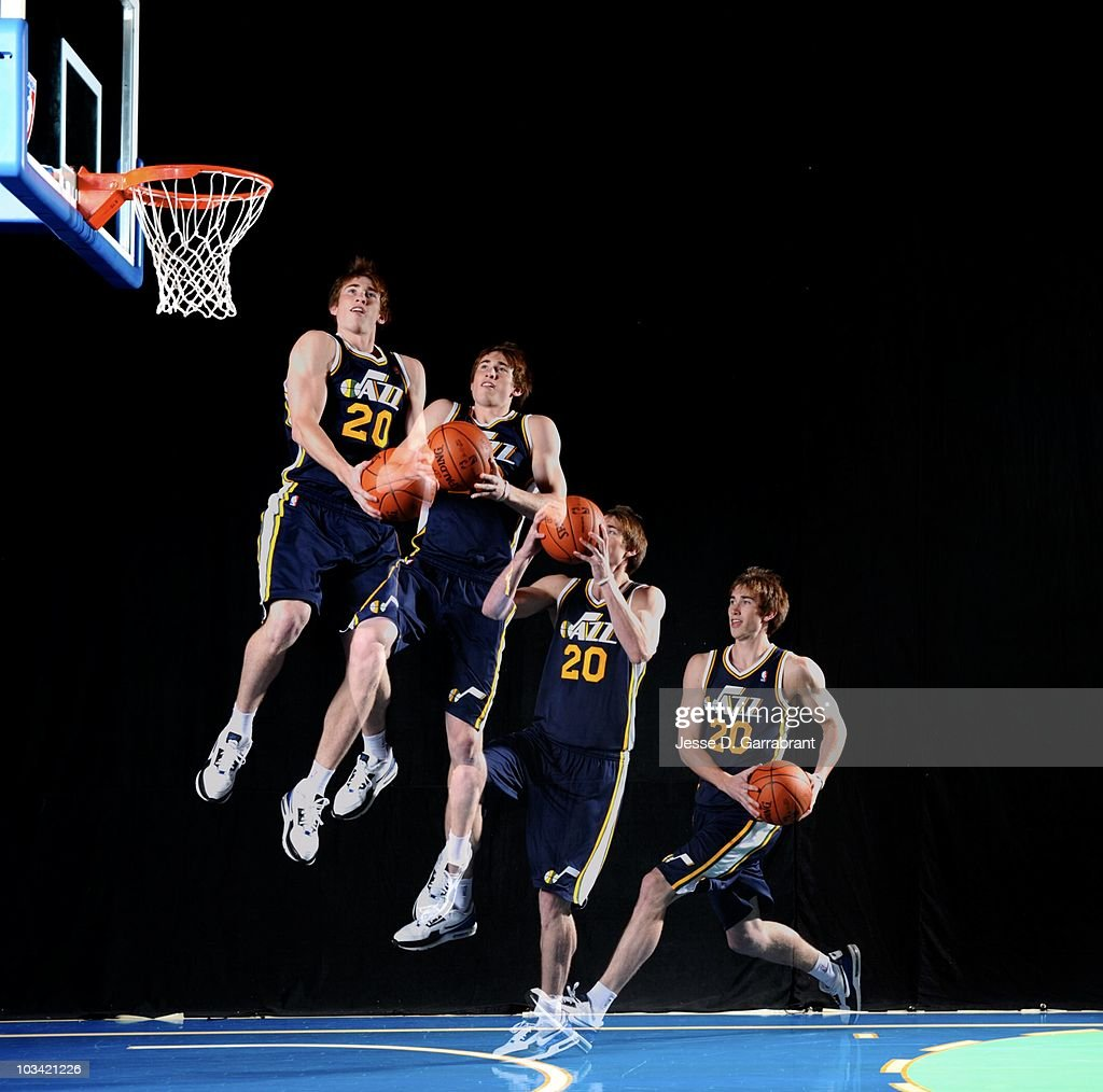Gordon Hayward Of The Utah Jazz Shoots A Basketball For A Portrait News Photo Getty Images