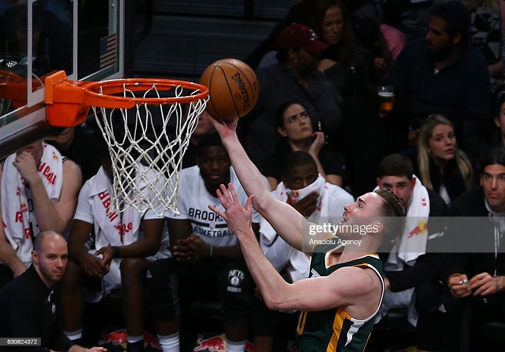 Gordon Hayward of Utah Jazz in action during NBA game between Brooklyn Nets and Utah Jazz at Barclays Center in New York City, United States on January 03, 2017.