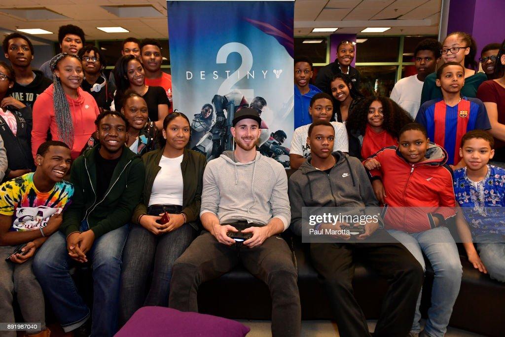 Gordon Hayward & Destiny 2 Visit Boys & Girls Clubs of Boston