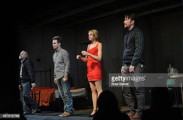 Gordon Joseph Weiss Nina Arianda Sam Rockwell and Tom Pelphrey attend the Fool For Love Broadway opening night curtain call the Samuel J Friedman...