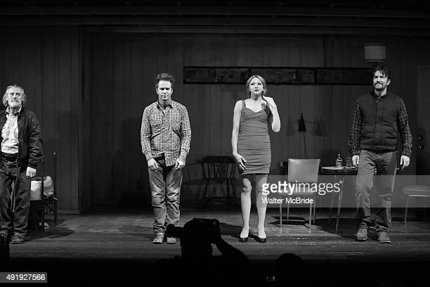 Gordon Joseph Weiss Sam Rockwell Nina Arianda and Tom Pelphrey during the Broadway Opening Night performance Curtain Call for 'Fool For Love' at the...
