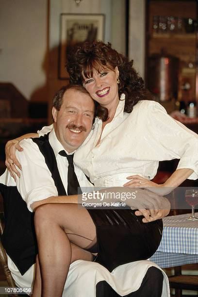 Gordon Kaye and Vicki Michelle two of the stars of television's ''Allo 'Allo' circa 1989