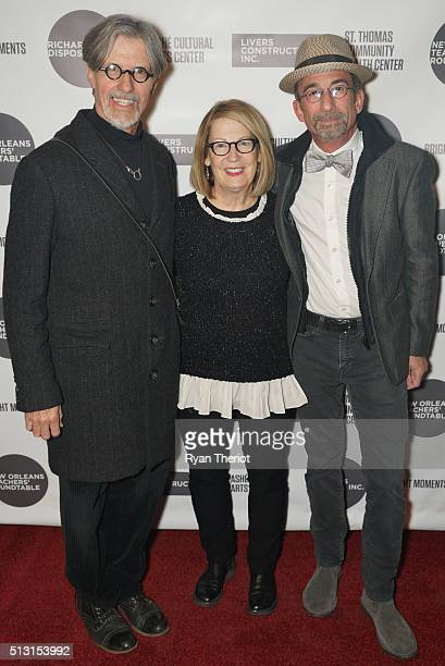 Gordon Lonsdale his wife and James Hayman arrive on the red carpet at House of Blues on February 27 2016 in New Orleans Louisiana