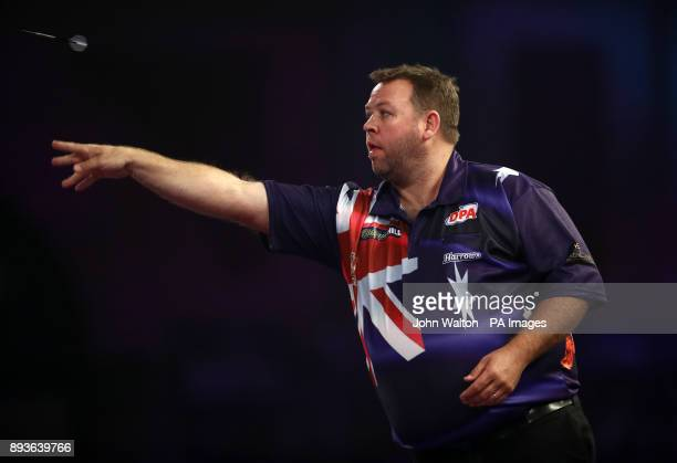 Gordon Mathers during his match against Seigo Asada during day two of the William Hill World Darts Championship at Alexandra Palace London