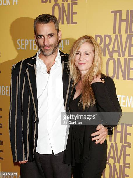 "Gordon McDonald and Actress Holly Hunter arive at ""The Brave One"" Premiere at the Rose Theater at Time Warner Center on September 10, 2007 in New..."