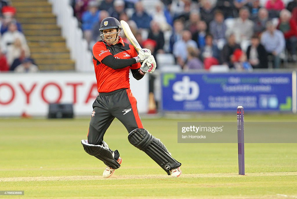 Gordon Muchall of Durham during the NatWest T20 Blast match between Durham Jets and Worcestershire Rapids at The Emirates Durham ICG on June 12, 2015 in Chester Le Street, England.