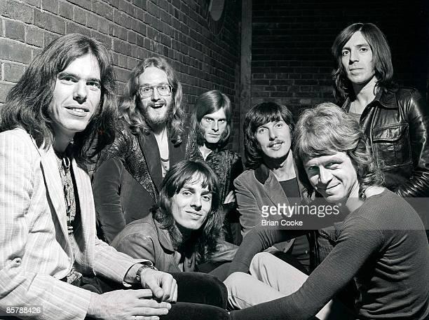 Gordon Neville, John Anthony Helliwell, Tony Catchpole , Vic Sweeney, Stan Haldane, Alan Bown, Jeff Banister, posed group shot of The Alan Bown...