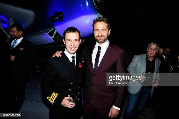 Gordon Park and Gerard Butler attend Lionsgate With The Cinema Society Host The After Party For The World Premiere Of 'Hunter Killer' at Intrepid...