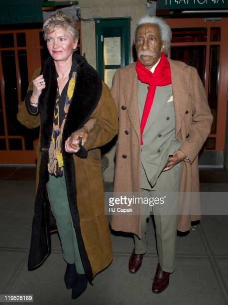 Gordon Parks and guest during Gordon Parks Sighting in New York City March 14 2005 at On The Streets of Manhattan in New York City New York United...