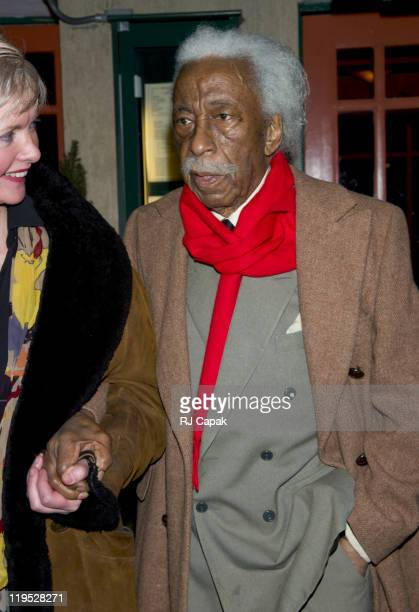 Gordon Parks during Gordon Parks Sighting in New York City March 14 2005 at On The Streets of Manhattan in New York City New York United States