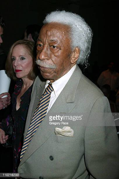 Gordon Parks during The International Center of Photography's 21st Annual Infinity Awards Inside at Skylight Studios in New York City New York United...