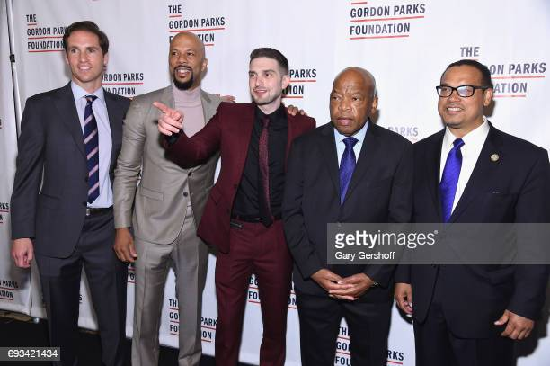Gordon Parks Foundation Executive Director Peter Kunhardt Jr actor and rapper Common philanthropist Alexander Soros US Representative John Lewis and...