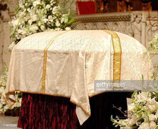 Gordon Parks's Casket at Riverside Church at the funeral service for Photographer Gordon Parks on March 14 2006 in New York City