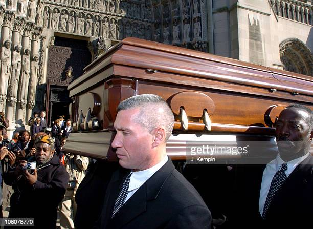 Gordon Parks's Casket during Funeral Service For The Late Photographer Gordon Parks at The Riverside Church in New York City New York United States