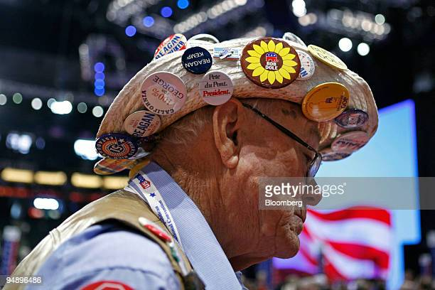 Gordon Pederson a delegate from South Dakota who has been to every Republican National Convention since 1976 attends the 2008 RNC at the Xcel Center...
