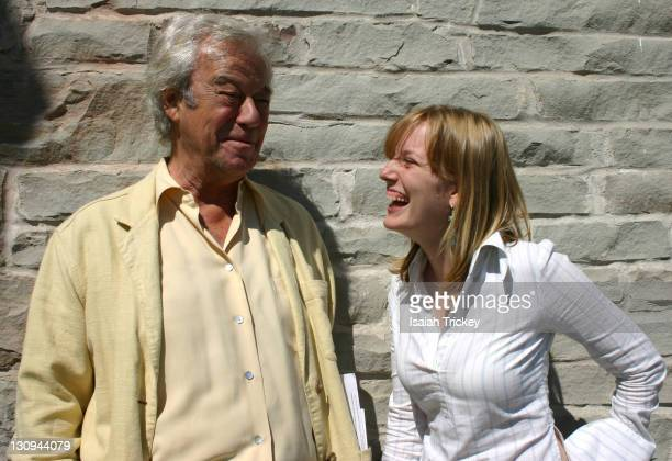 Gordon Pinsent and Sarah Polley during 31st Annual Toronto International Film Festival Canadian Film Centre BBQ at Portrait Studio in Toronto Ontario...
