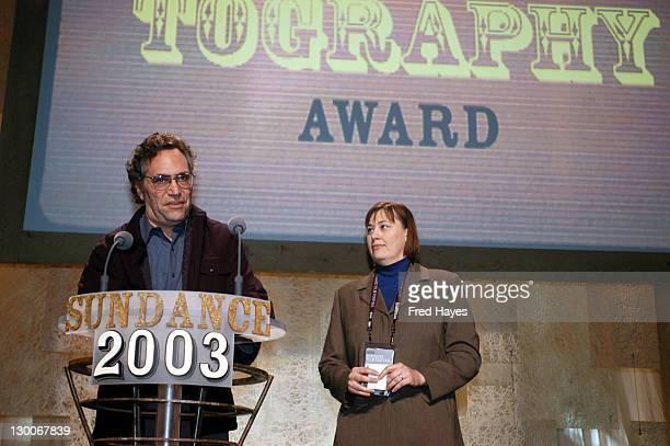 Gordon Quinn and Dana Kupper winners of the Documentary Cinematography award for Stevie